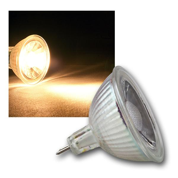 MR16 LED Strahler H35 COB Glas warm weiß 230lm