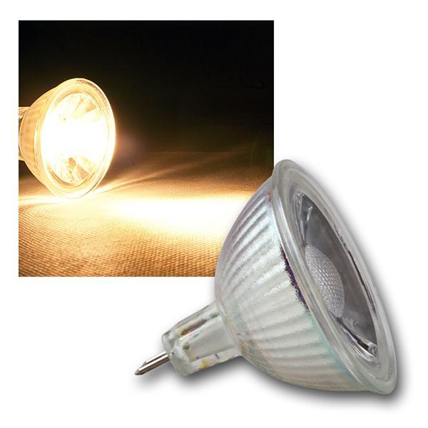 MR16 LED Strahler H50 COB Glas warm weiß 400lm