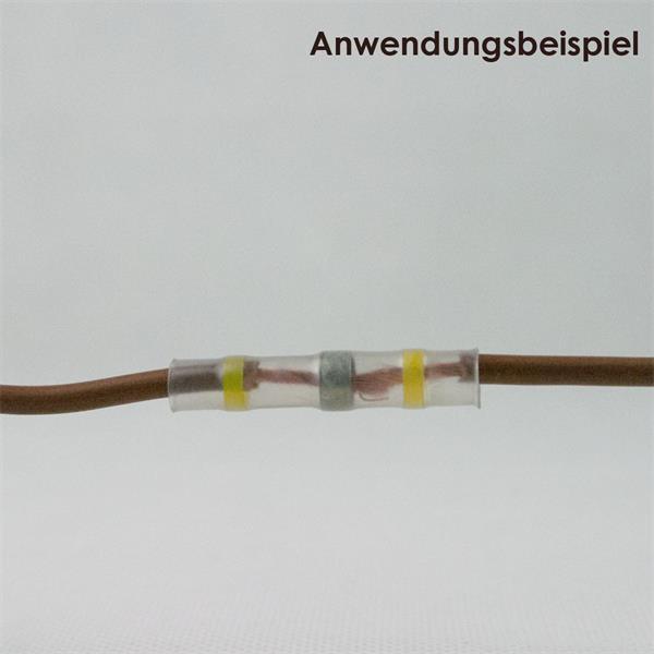 Verbinder für 2 Kabelenden zur Herstellung eines dauerhaften Kontaktes