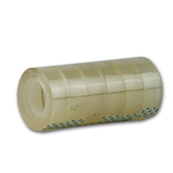 6 Rollen Klebefilm kristallklar, 19mmx33m