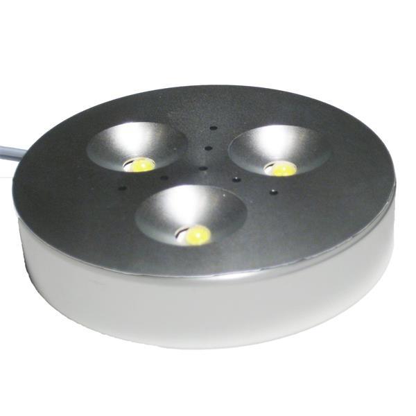 LED Einbauleuchte mit 3 superhellen 1 Watt Edison-LEDs