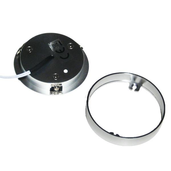 Aluminium LED Unterbauspot für 12V mit einen Aufbaurahmen