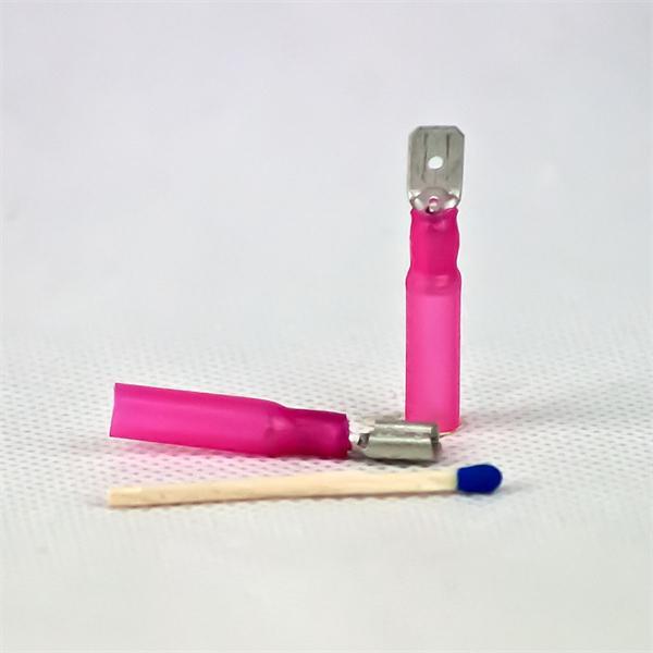 Flachstecker und Flachsteckhülse für Kabelquerschnitte von  0,5-1,5mm²,  AWG 22-16