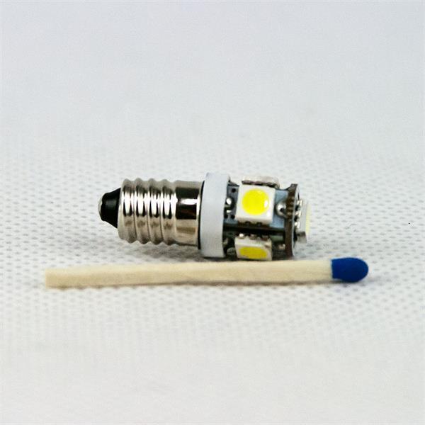 LED Glühbirne E10 12V mit mit dem Maß 11,8x30mm (ØxL) ideal auch für Taschenlampen