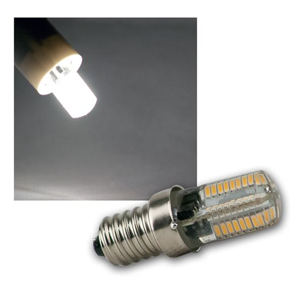 LED Lampe E14 72 SMD LEDs daylight 200lm 300°
