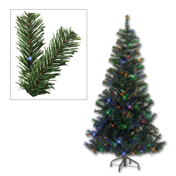 LED Weihnachtsbaum grün 210cm, 264 bunte LEDs