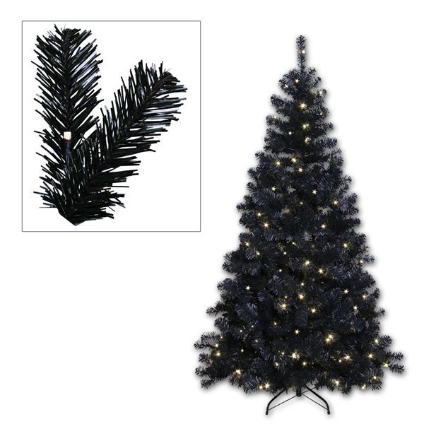 LED Weihnachtsbaum schwarz 210cm 260 daylight LEDs