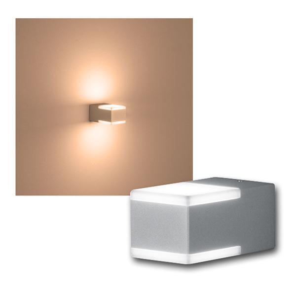 """Außen Wandleuchte """"DON"""" Titanfarbig 2x3W LED 220lm"""
