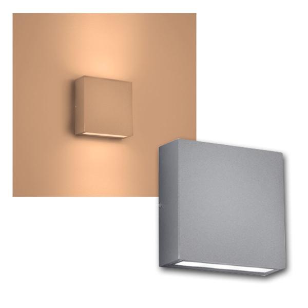 Außen Wandleuchte THAMES Titanfarbi 2x3W LED 180lm
