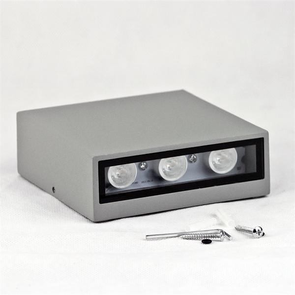 LED Spot-Leuchte mit titanfarbigen Gehäuse und zweiseitiger Abstrahlung