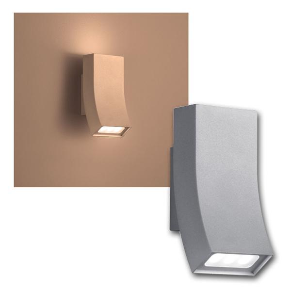 "Außen Wandleuchte ""OKA"" Titanfarbig 2x3W LED 240lm"