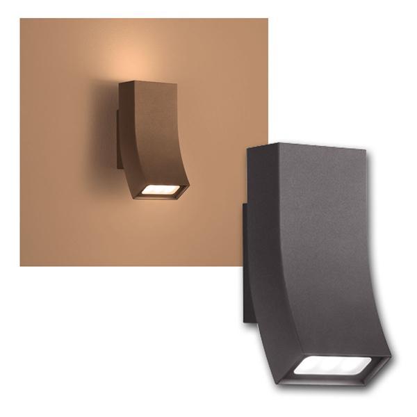 au en wandleuchte oka anthrazit 2x3w led 240lm. Black Bedroom Furniture Sets. Home Design Ideas