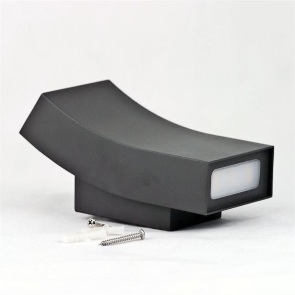 LED Spot-Leuchte mit anthrazitfarbigen und geschwungenen Gehäuse