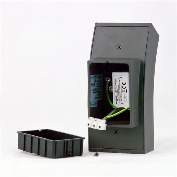 LED Edelstahl Außenwandleuchte zum direkten Anschluss an 230V
