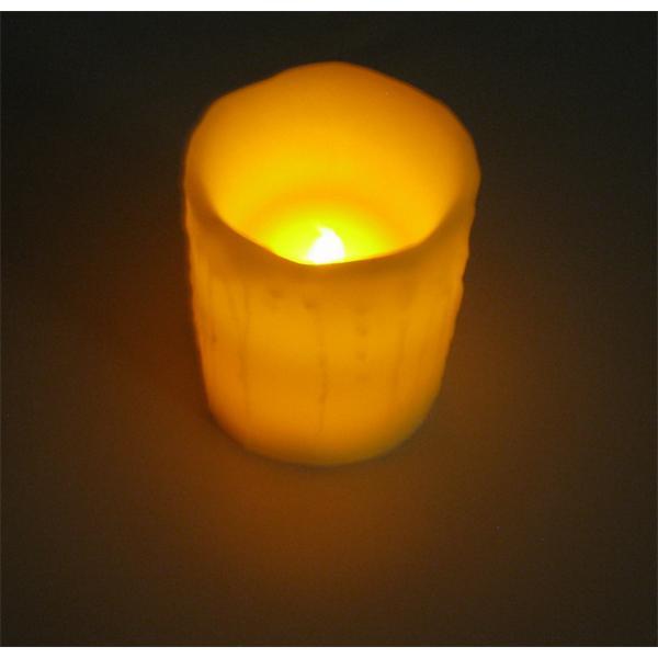 LED Stumpenkerze aus echtem Wachs für eine gemütliche Atmosphäre
