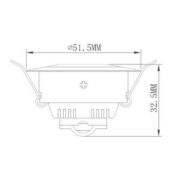 LED Downlight 12V DC mit nur ca. 3W Verbrauch