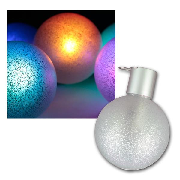 6er Set LED Christbaumkugeln RGB mit Fernbedienung