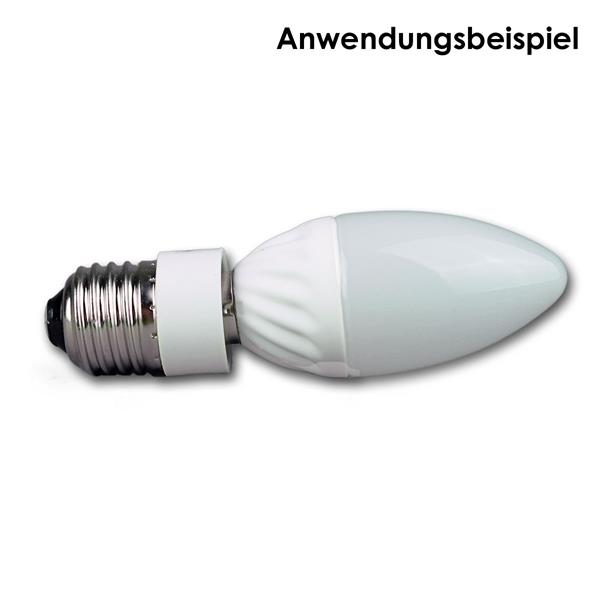 gängiges E14 Leuchtmittel auf E27 adaptieren