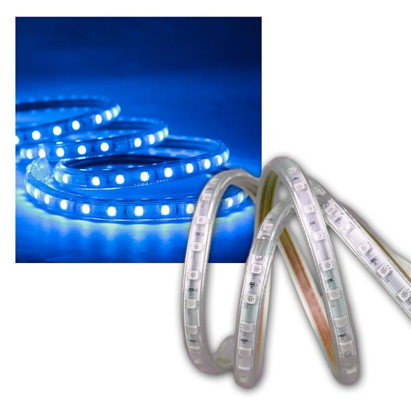 10m LED-Stripe Ultra-Bright 230V, IP44 blau