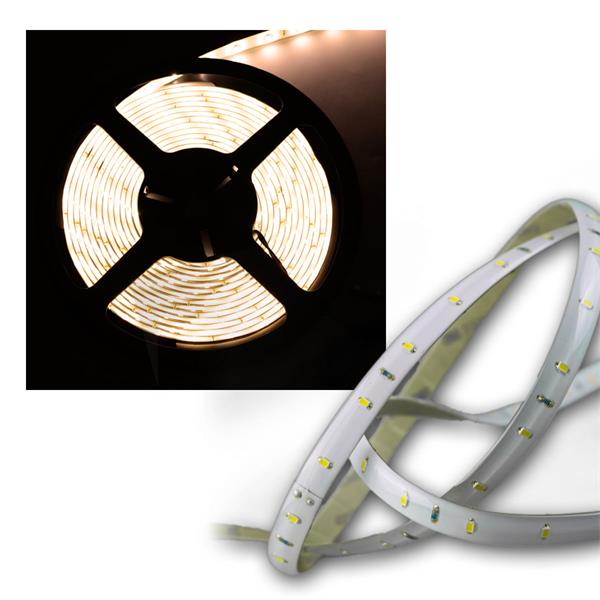 LED Lichtband 4,8m, SMD LEDs warmweiß 12V, klebend