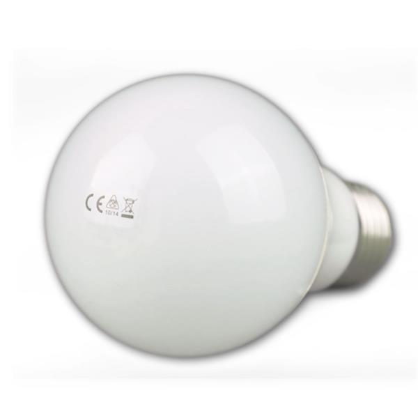 LED Energiesparlampe mit weißem Leuchtkörper für ein blendfreies Licht