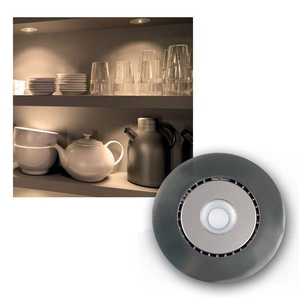 LED Edelstahl Einbauleuchte 6,8W warm weiß 400lm