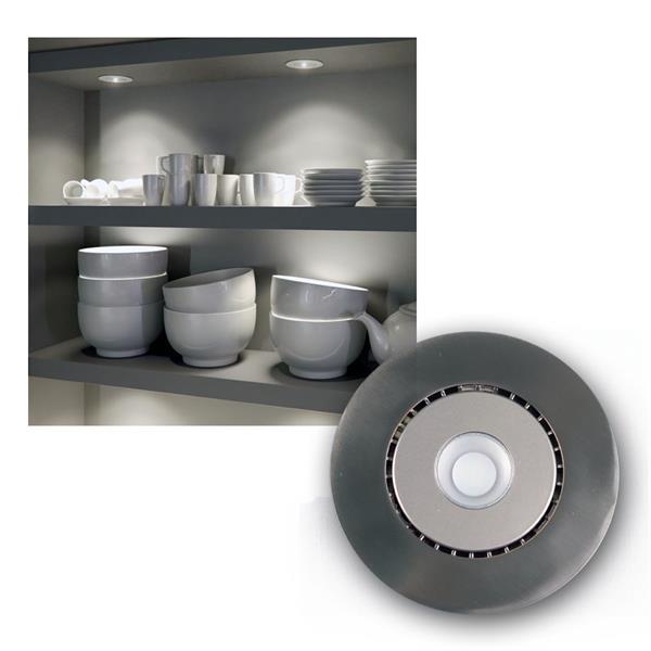 LED Edelstahl Einbauleuchte 6,8W kalt weiß 400lm