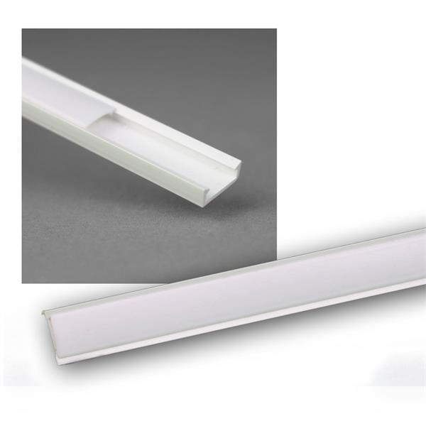 "1m LED Kunststoff-Profil ""MINI"" weiß, Abdeckg OPAL"