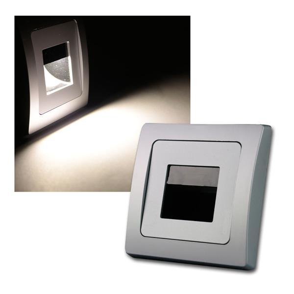 "DELPHI LED Einbauleuchte ""COB"" silbe 110lm 80x80mm"