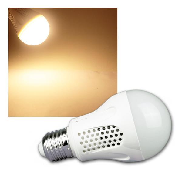 LED Glühlampe E27 G50 Eco warm weiß 470lm 6W