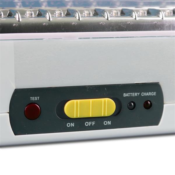 Notlampe mit Blei-Akku und 2 Helligkeitsstufen