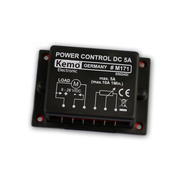 PWM Leistungsregler 9 - 28 V/DC, max. 10 A, Kemo