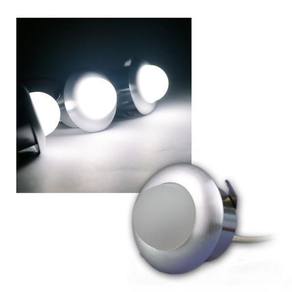 3er Set LED Einbaustrahler SPHAERA 3x 1W daylight