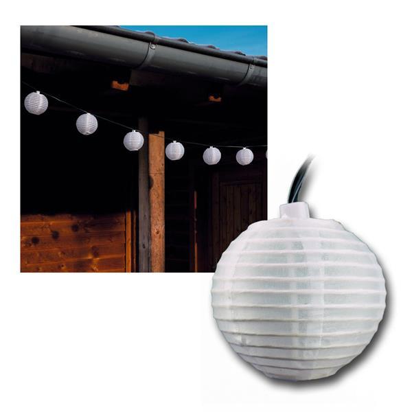 solar led lichterkette 10 wei e lampions ip44 highlight led. Black Bedroom Furniture Sets. Home Design Ideas