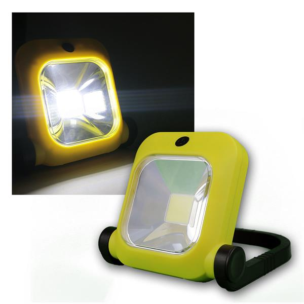 20W LED Baustrahler mit LiIon-Akku, 1600lm, 4500K