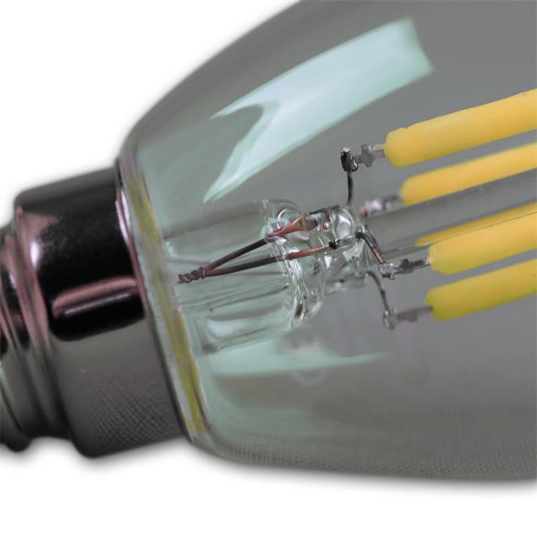 LED Energiesparlampe mit dem Maß 50x80mm und dem Eindruck eines Glühfadens