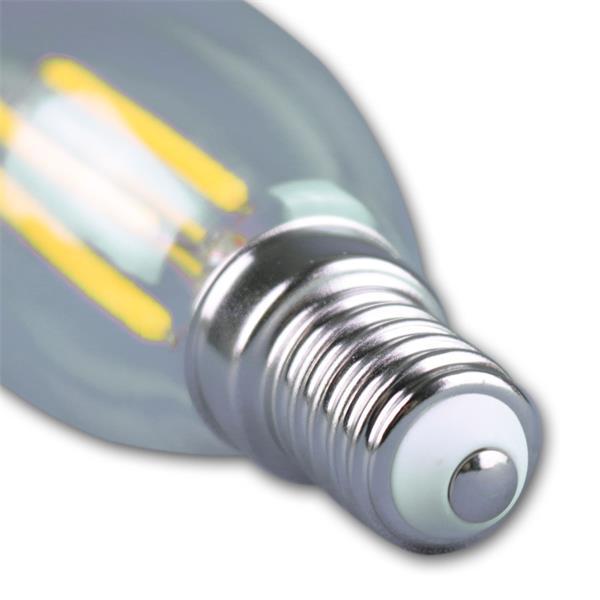 LED Kerzenleuchte Sockel E14 für 230V mit nur ca. 4W Verbrauch