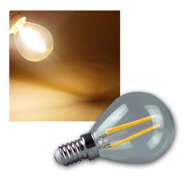 LED Tropfenlampe E14 Filament T4 360lm warm weiß