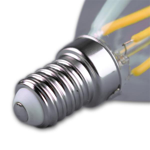 LED Tropfenleuchte Sockel E14 für 230V mit nur ca. 4W Verbrauch
