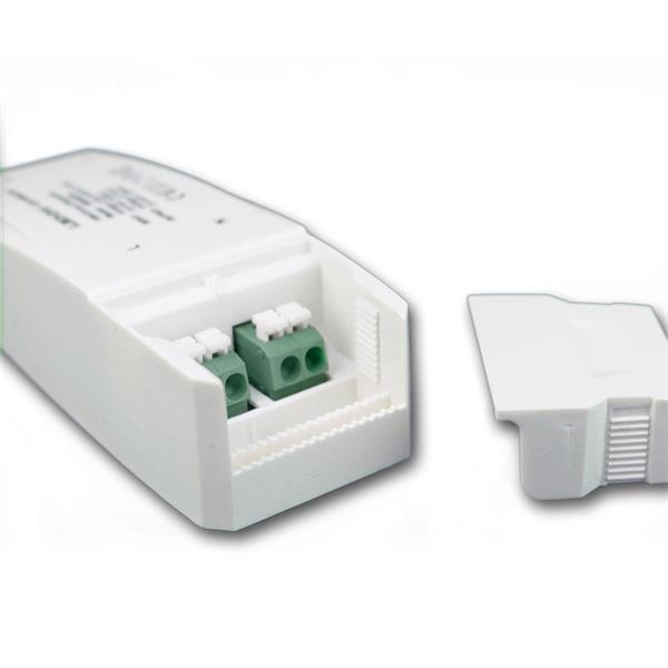 dimmbarer LED-Trafo Maß: 135x46x30,3mm (LxBxH) mit Doppelklemme zum Durchschleifen