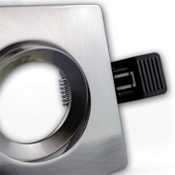 LEDON Einbaufassung MR16 Aluminium gebürstet und hochwertig verarbeitet