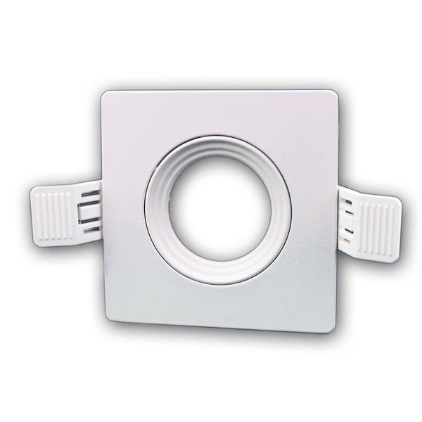Lampen Einbaurahmen MR16 eckig weiß Click-In