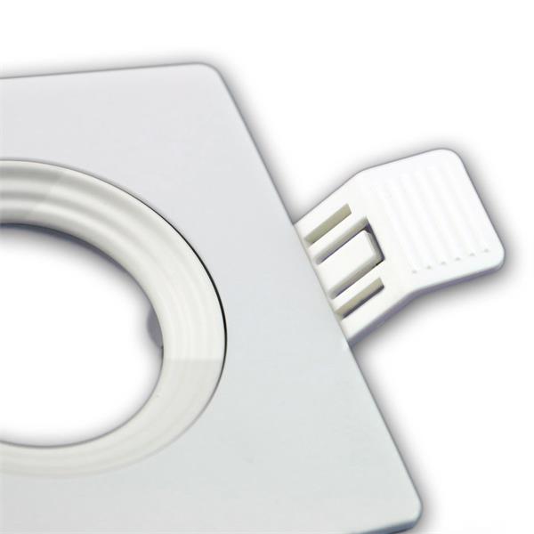 LEDON Einbaufassung MR16 hochwertig verarbeitet, eckig und in weiß