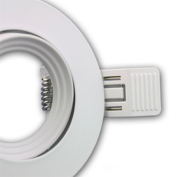 LEDON Einbaufassung MR16 rund aus hochwertig verarbeitetem Aluminium in weiß