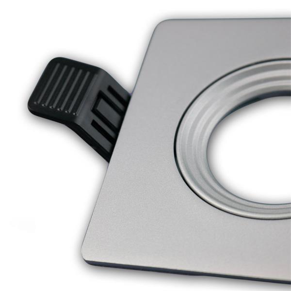 LEDON Einbaufassung MR16 hochwertig verarbeitet, eckig und in Silber