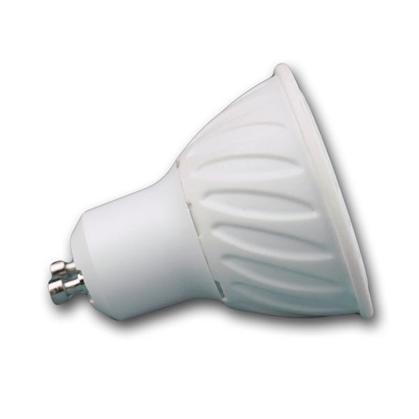GU10 LED Leuchte mit abschließender Schutzglasabdeckung und dem Maß 50x54mm