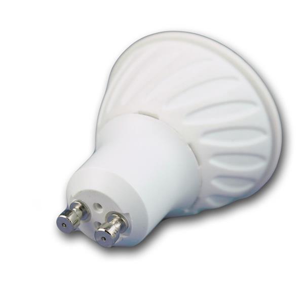 LED Energiesparlampe GU10 für 230V mit Sockel GU10 und nur ca. 7W Verbrauch