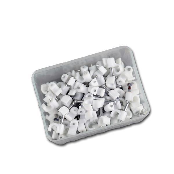100 Kabelschellen weiß, für Kabel max. Ø 4mm