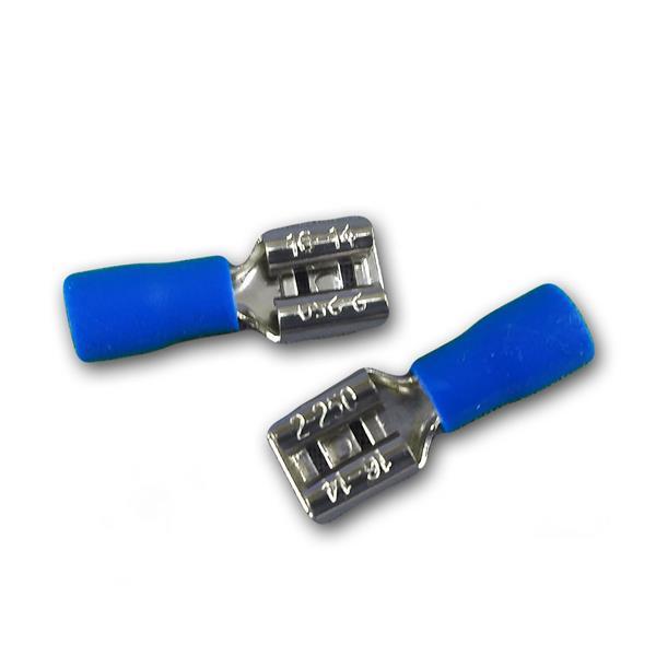 50er Set Flachsteckhülse Blau 6,3x0,8mm 1,5-2,5mm²