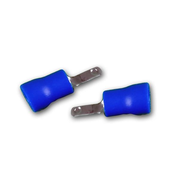 50er Set Flachstecker Blau, 2,8x0,8mm, 1,5-2,5mm²